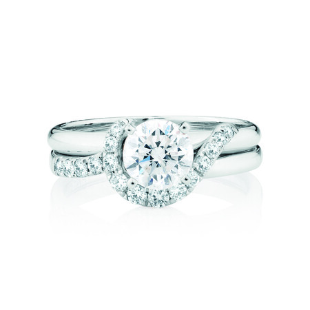 Enhancer Ring with 1/4 Carat TW of Diamonds in 14ct White Gold