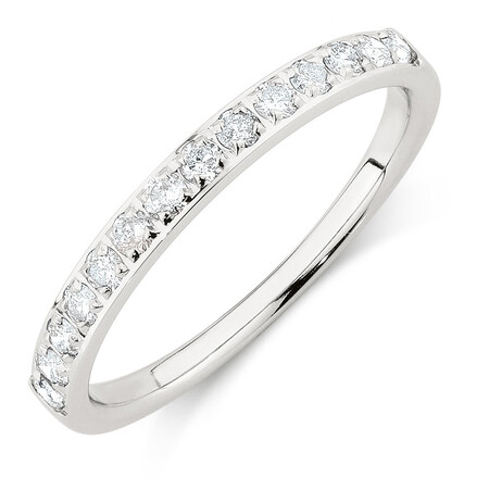 Wedding Band with 1/3 Carat TW of Diamonds in 14ct White Gold