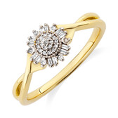Evermore Promise Ring with 0.10 Carat TW of Diamonds in 10ct Yellow Gold