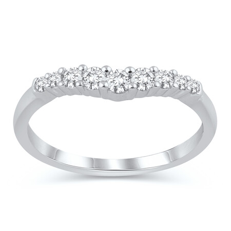 Ring with 1/4 Carat TW of Diamonds in 10ct White Gold
