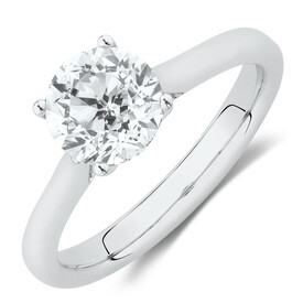 Southern Star Solitaire Engagement Ring with 1.5 Carat TW Diamond in 14ct White Gold