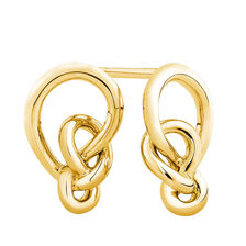 Knots Earrings in 10ct Yellow Gold