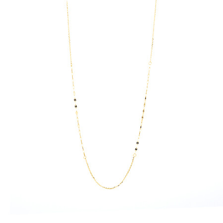 60cm Mirror Chain in 10ct Yellow Gold