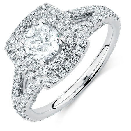 Sir Michael Hill Designer GrandArpeggio Engagement Ring with 1.69 Carat TW of Diamonds in 14ct White Gold