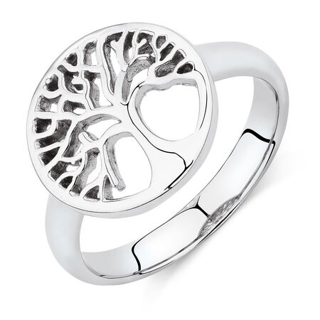 Tree of Life Ring in Sterling Silver