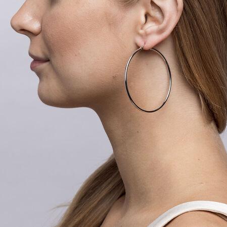 55mm Hoop Earrings in Sterling Silver