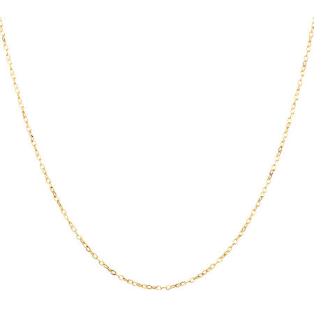 """45cm (18"""") Cable Chain in 10ct Yellow Gold"""