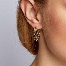 Hoop Earrings in 10ct Yellow, White & Rose Gold