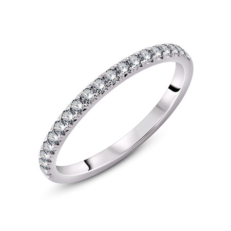 Ring with 0.25 Carat TW of Diamonds in 18ct White Gold