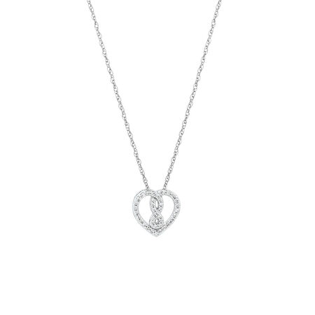 Mini Infinitas Pendant with 0.12 Carat TW of Diamonds in Sterling Silver