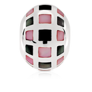 Square Patterned Charm with Black & Pink Mother of Pearl in Sterling Silver