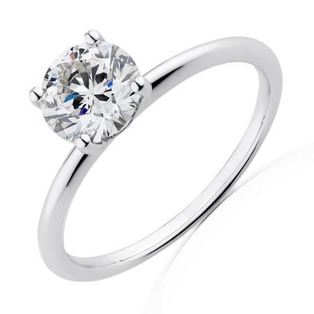 Laboratory-Created 1.25 Carat Diamond Ring in 14ct White Gold