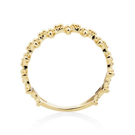 Beads Ring in 10ct Yellow Gold
