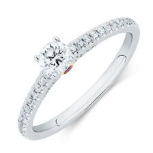Sir Michael Hill Designer GrandAria Engagement Ring with 1/2 Carat TW of Diamonds in 14ct White Gold
