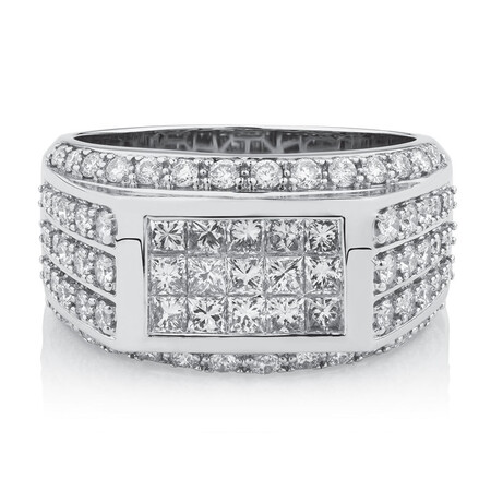 Men's Ring with 2 Carat TW of Diamonds in 14ct White Gold