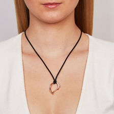 Spirits Bay Hollow Pendant with 0.15 Carat TW of Diamonds in 10ct Rose Gold