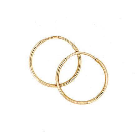 18mm Sleeper Earrings in 10ct Yellow Gold