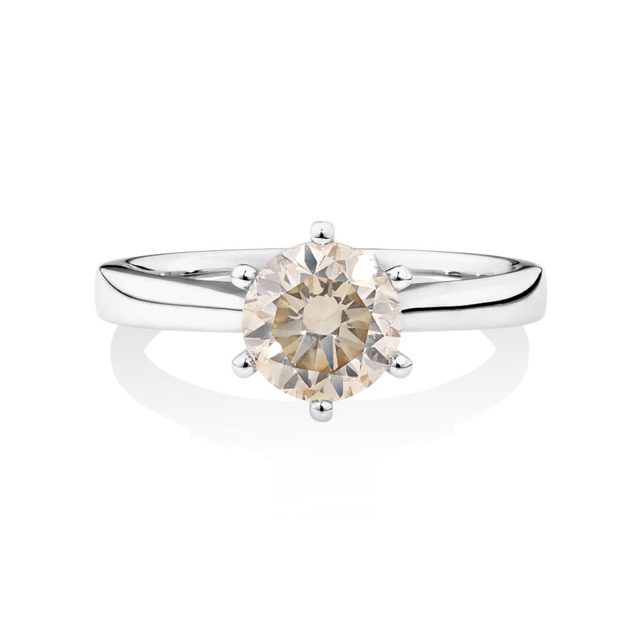 Solitaire Engagement Ring with 1.50 TW Diamond in 14ct White Gold