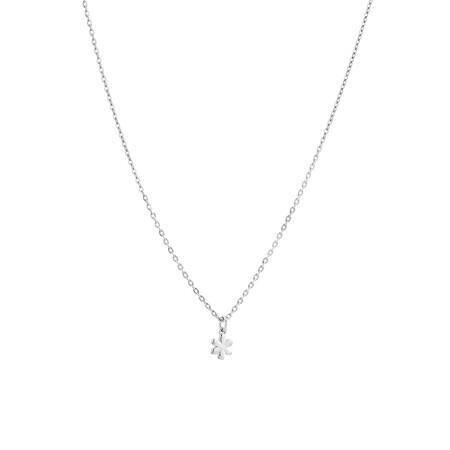 Mini Flower Pendant in Sterling Silver
