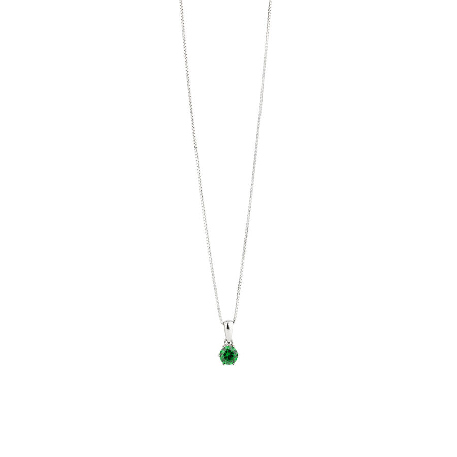 Pendant with Emerald Cubic Zirconia in Sterling Silver