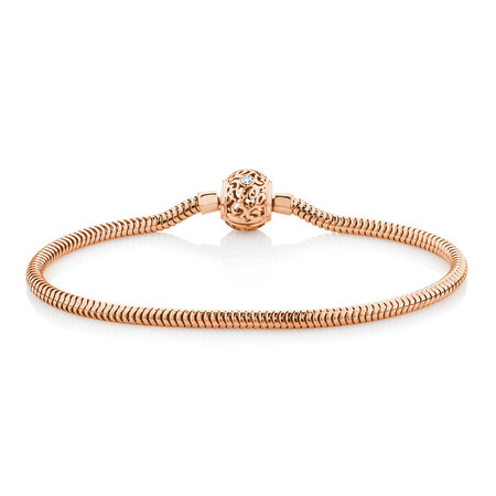 Charm Bracelet with Diamonds in 10ct Rose Gold