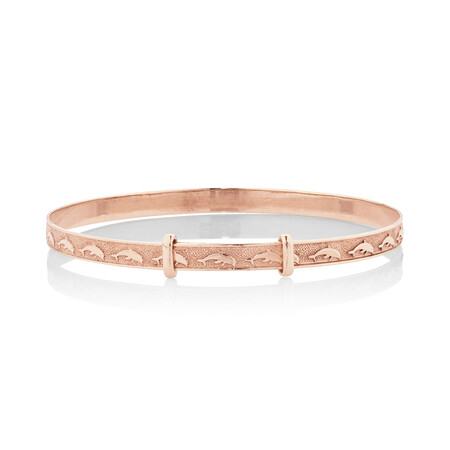 Expandable Baby Bangle in 10ct Rose Gold