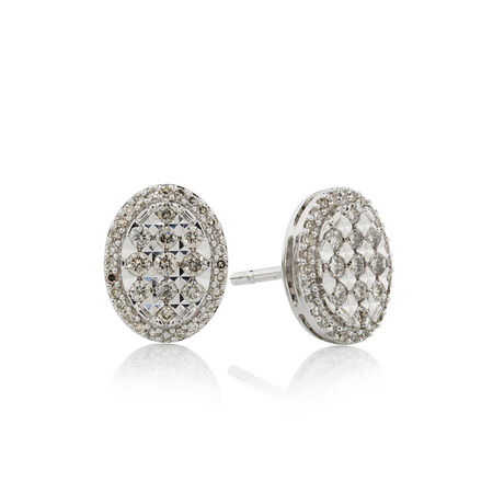 Online Exclusive - Earrings with 0.39 Carat TW of Diamonds in 10ct White Gold