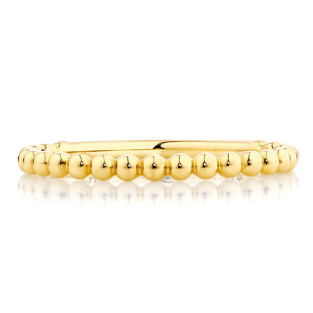 Ball Stack Ring in 10ct Yellow Gold