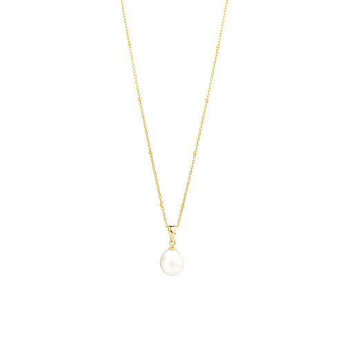 Pendant with Cultured Freshwater Pearls in10ct Yellow Gold