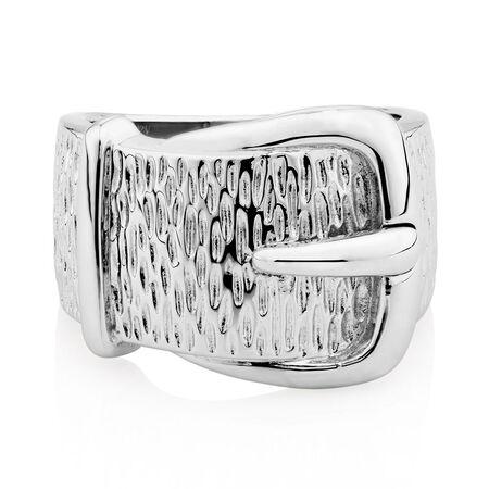Belt Ring in Sterling Silver