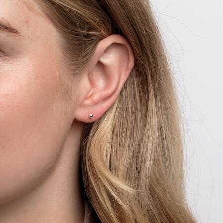 3mm Ball Stud Earrings in Sterling Silver