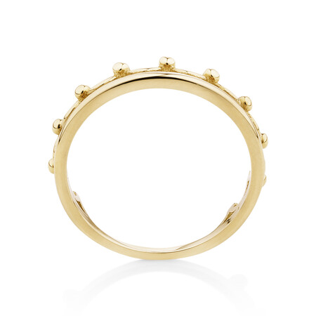 Crown Ring 10ct Yellow Gold