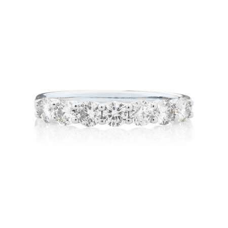 Wedding Band with 0.90 Carat TW of Diamonds in 10ct White Gold