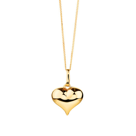 Heart Pendant in 10ct Yellow Gold