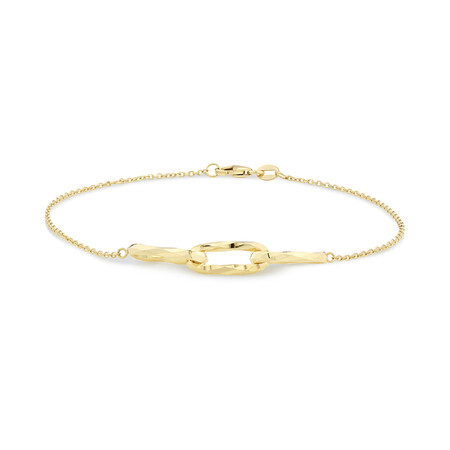 Link Bracelet in 10ct Yellow Gold