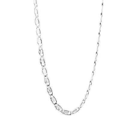 Chain with Patterned Links in Sterling Silver
