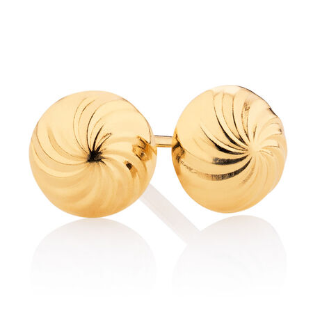 5mm Stud Earrings in 10ct Yellow Gold