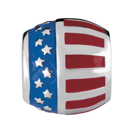 Sterling Silver USA Charm