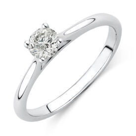 Evermore Solitaire Engagement Ring with a 0.34 Carat TW Diamond in 14ct White Gold