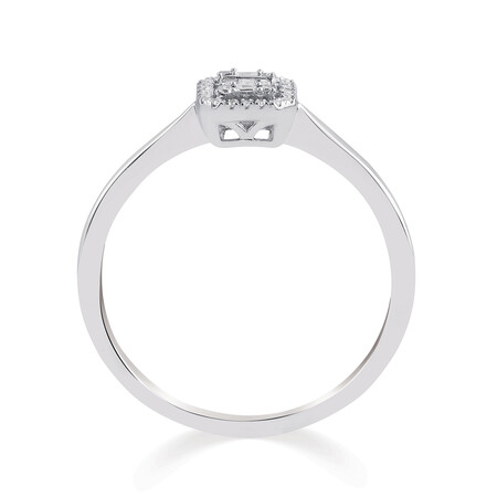 Promise Ring with 0.10 Carat TW of Diamonds in 10ct White Gold