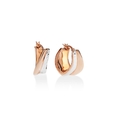 Earrings set in 14ct Rose and White Gold