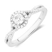Sir Michael Hill Designer GrandAdagio Engagement Ring with 0.79 Carat TW of Diamonds in 14ct White Gold