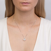 Everlight Pendant with 3/4 Carat TW of Diamonds in 14ct White Gold