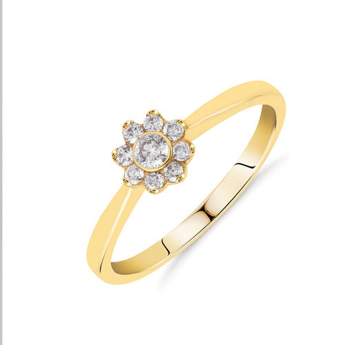 Promise Ring with 0.20 Carat TW of Diamonds in 10ct Yellow Gold