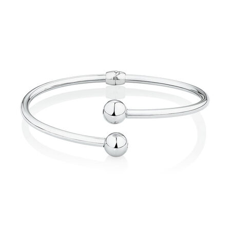 Bypass Bangle in Sterling Silver