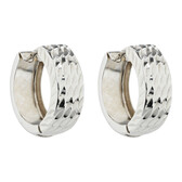 Hoop Earrings in 10ct White Gold