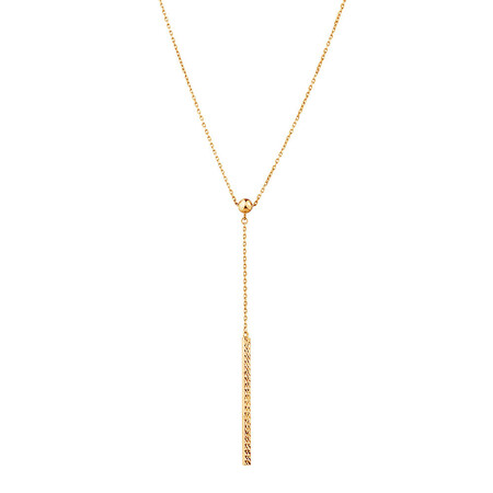 Adjustable Bar Necklace in 10ct Yellow Gold