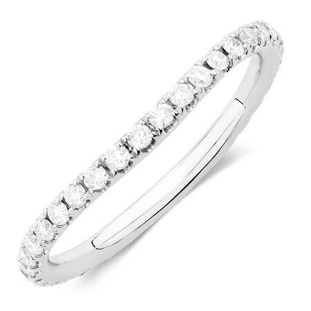 Sir Michael Hill Designer GrandArpeggio Wedding Band with 0.40 Carat TW of Diamonds in 14ct White Gold