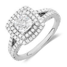 Sir Michael Hill Designer GrandArpeggio Engagement Ring with 1.95 Carat TW of Diamonds in 14ct White Gold