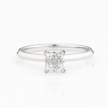 Online Exclusive - Multistone Ring with 0.34 Carat Total Weight of Diamonds in 14ct White Gold